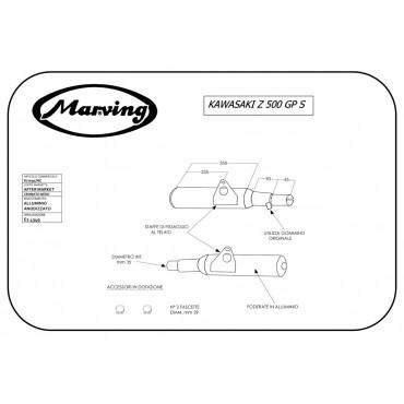 Marving K/2091/NC Kawasaki Z 500 Gp S