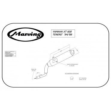 Marving EDR/11/NC Yamaha XT 600/Tenere' 84/89