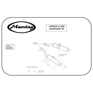 Marving Y/2147/BC Yamaha Xj 900 Diversion 95