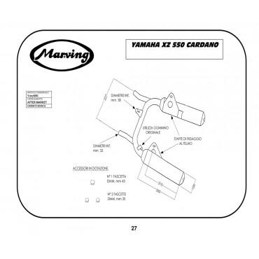 Marving Y/2078/BC Yamaha Xz 550 Cardano