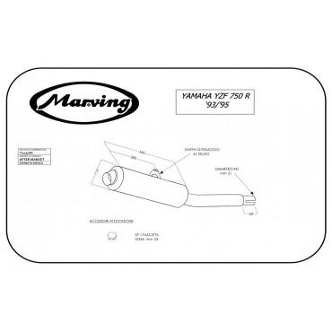 Marving Y/2137/BC Yamaha Yzf 750 R 93/95