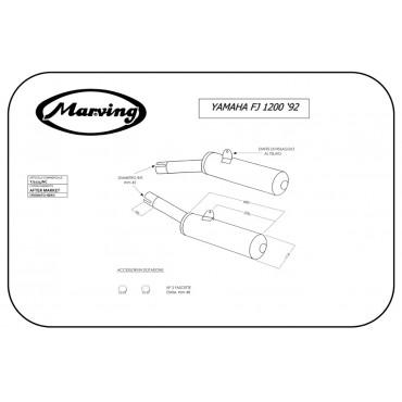 Marving Y/2124/NC Yamaha Fj 1200 92
