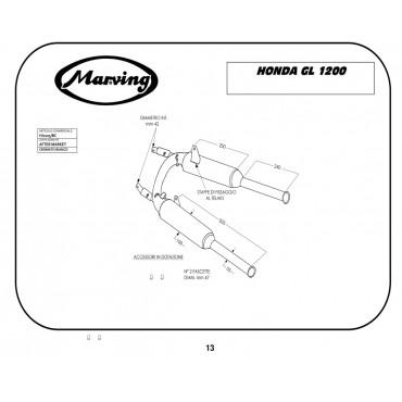 Marving H/2105/BC Honda GL 1200 Goldwing