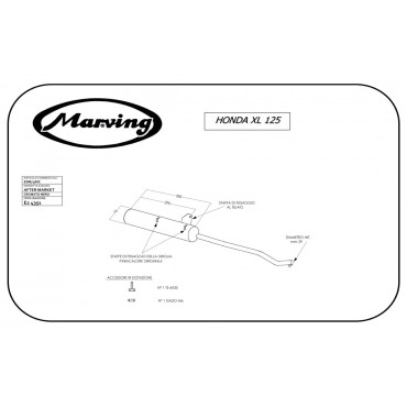Marving EDR/1/NC Honda Xl / Xls 125