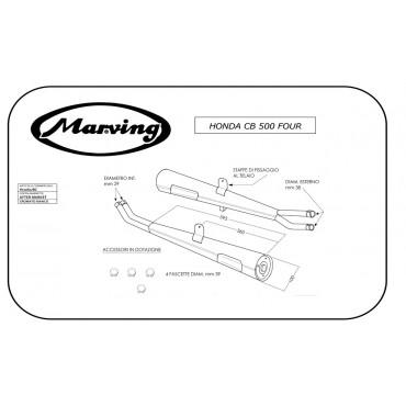 Marving H/2062/BC Honda Cb 500 Four