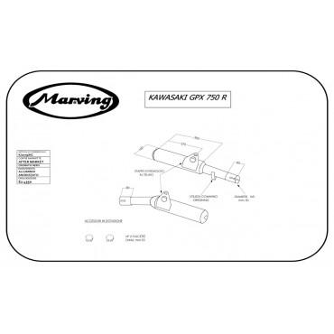 Marving K/2079/NC Kawasaki Gpx 750 R