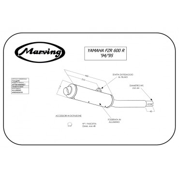 Marving Y/2139/NC Yamaha Fzr 600 R 94/95