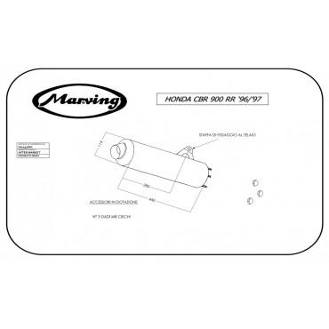 Marving H/2157/NC Honda Cbr 900 Rr 96/99