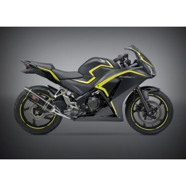 Motorrad Auspuff Yoshimura Honda CBR 300R/CB 300F Race R-77