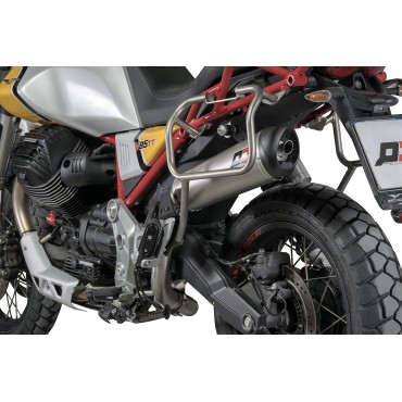 QD Exhaust Tronco Cono Moto Guzzi V85 TT