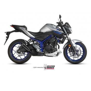 Mivv Double Gun Black Yamaha MT 03