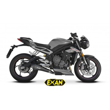Exan Triumph Street Triple 765 X-Black EVO
