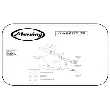 Marving K/2082/NC Kawasaki Zx10 1000